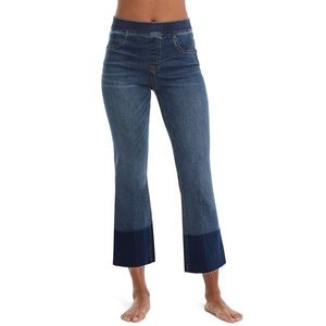 Spanx High Rise Crop Flare Jeans Leggings